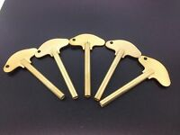 Set Of 5 Solid Brass Schatz Anniversary 400 Day Trademark Clock Key 3 3.0 Mm