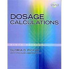 Dosage calculations 8th ed. Gloria d. Pickar paperback and cd | ebay.
