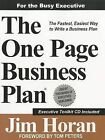 The One Page Business Plan for the Busy Executive by Jim Horan (Paperback / softback, 2011)