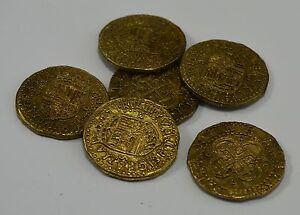 Superb Job Lot 6 Spanish Gold Doubloons - Coins/Pirates/<wbr/>Treasure/Spani<wbr/>sh/Gift