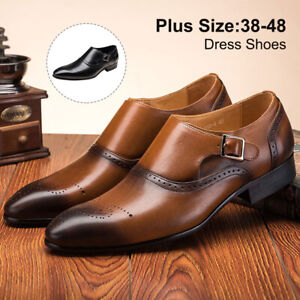 Leather-Dress-Shoes-Men-Casual-Oxfords-Pointed-Toe-Business-Formal-Office-Work