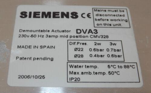 SIEMENS COMPLETE VALVE ACTUATOR CMV328 3 PORT 28mm MOTORISED DEMOUNTABLE VAT INC