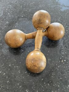 Antique-Dumbells-Dumbbells-Woos-Turned-Treen-Sports-1890s-Victorian-Edwardian