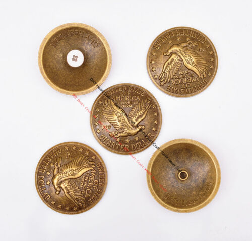 10X 30mm Brass Replica Flying Eagle Dollar Coin DIY Leathercraft Hardware Concho