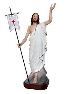 Estatua-Jesus-039-Resucitado-Risen-Cm-60-Resina-Eyes-Of-Glass-Ojos-Cristal