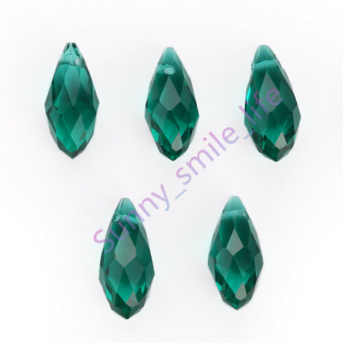 À faire soi-même Jewelry Making Faceted Teardrop Pendentif Spacer Beads Earring Findings 6x12mm
