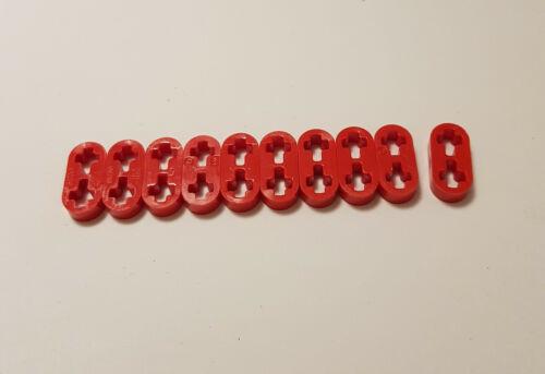 10x LEGO TECHNIC NUOVO liftarm PIATTO ROSSO 41677 1x2 tecnologia 4186678 NUOVO