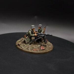 Ben dipinti 28mm BOLT ACTION tedesco mg34 Team ww2