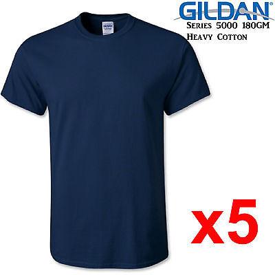 Gildan T-SHIRT Light Blue blank plain tee S M L XL 2XL XXL Men/'s Heavy Cotton