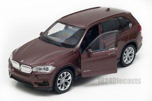 BMW-X5-Marron-Welly-Escala-1-34-39-Modelo-del-Coche-de-Juguete-Regalo