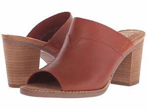 TOMS Cognac Majorca Mule Leather Shoes