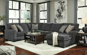Dark Gray Chenille Sofa Couch