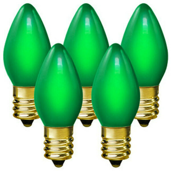 Replacement Christmas Bulbs.25 C7 Green Transparent Replacement Christmas Bulbs Party Holiday Wedding