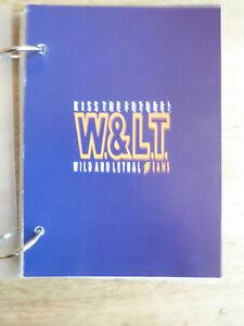 """Catalogue W. & Masuka W< Autumm/hiver/1999/2000 Walter Van Beirendonck Vintage-1999/2000 Walter Van Beirendonck Vintage"""" afficher Le Titre D'origine Belle Apparence"""