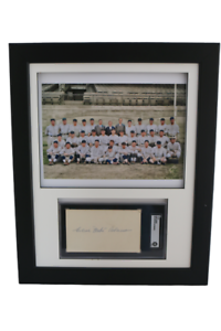 1925-Pittsburgh-Pirates-Colorized-Team-Photo-w-SGC-3x5-signed-Babe-Adams