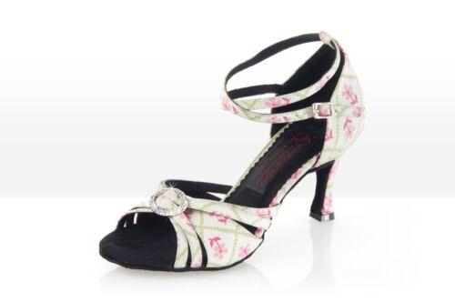 """Neu Lateintanzschuh /""""La Belle/"""" für Damen von Exclusive Dance Shoes mit Brosche"""