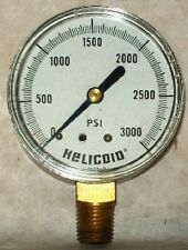 """Helicoid 1/4"""" NPT 3000 PSI 2-1/2"""" Dial Dry Pressure Gauge 661039108 / 6610391030"""