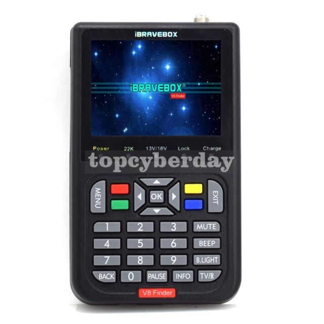 3.5/'/' LCD Genuine V8 DVB-S//S2 HD TV Satellite Signal Finder Meter MPEG-4 LCD FTA