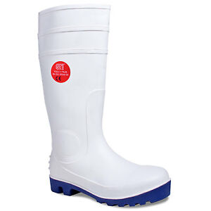 WELLINGTON BOOTS HYGIENE FOOD  SAFETY UNISEX STEEL TOE CAP WELLIES WHITE 3 -13
