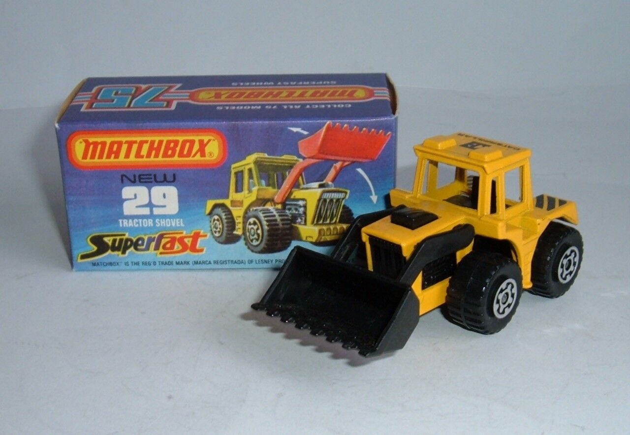 Matchbox Superfast No. 29, Tractor Shovel, - Superb Mint