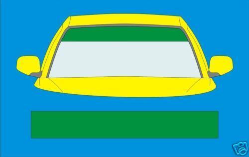 PLAIN GREEN SUNSTRIP CAR  DECALS GRAPHICS SS031