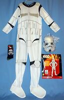 Disney Stormtrooper Star Wars Costume Boys M-8-10;jumpsuit,mask;nwt Socks;lot-3
