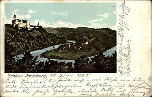 Lunzenau AK 1905 Rochsburg Burg Schloss Blick gelaufen n/ Leipzig-Eutritzsch