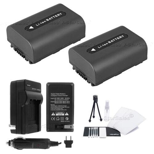 2x Batería Bonus NP-FH40 Para Sony HDR-XR520V XR500V XR100 TG5V UX5 Cargador