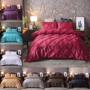 Cotton-Queen-Full-King-Pintuck-Rapport-Duvet-Cover-Sets-Modern-Quilt-Cover