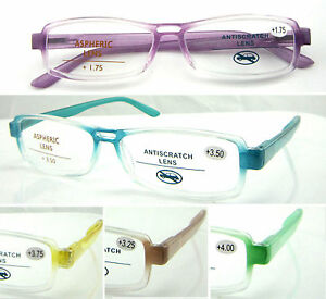 c0853daaeb Image is loading L349-High-Quality-Reading-Glasses-Spring-Hinges-Clear-