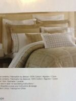 Negate Home Taupe Vegas European Pillow Shams