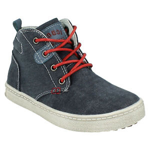 BOYS KIDS N2037 ZIP LACE UP HI TOP CANVAS SHOES BOOTS JCDEES