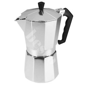 Un 3/6/9 / 12 Tazas Aluminio Continental Expresso Tea Coffee Maker Cafetera De Filtro máquina  </span>