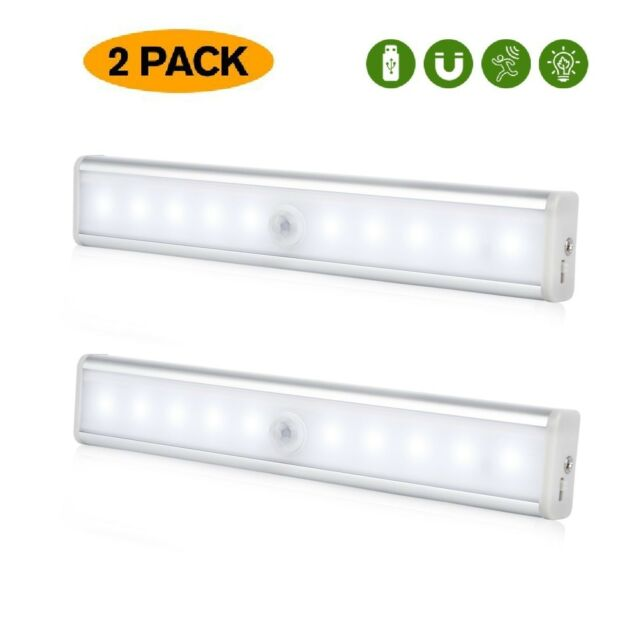 20 LED Wireless Motion Sensor Closet Lights USB Rechargeable Under Cabinet Light