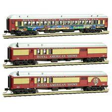 Micro-Trains N Royal American Shows Mail Baggage 3 Cars MTL99301450