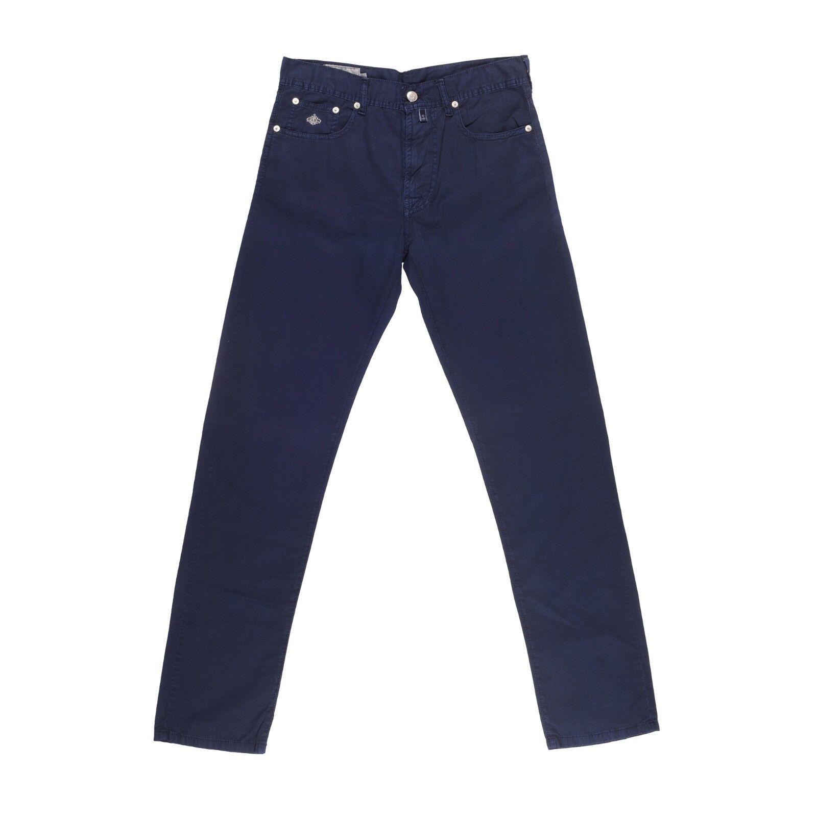 Luigi Borrelli 5 Tasche Blau 100% Cotton Jeans Stil Hosen Größe 31 Neu Br180