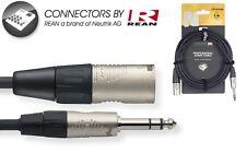 Mikrofonkabel  XLR male auf 6,3er Klinke Symetrisch länge 3m / Adapterkabel