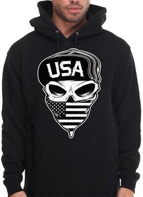 Caili Mens USMC Marine Corps Logo Hoodies Sweatshirts
