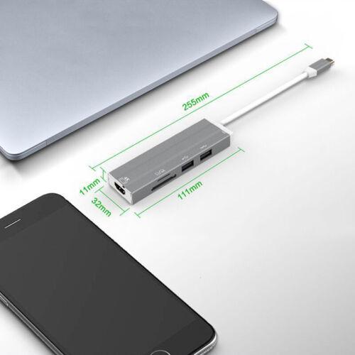 USB-C HUB 4K HD Video Audio Cable Adapte Type C to HDMI usb 3.0//usb 2.0 Tool US