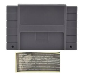 SNES cartridge new replacement super nintendo empty US free rear back label game