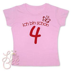 Girl-Geburtstagsshirt-ich-bin-schon-4-Wahl-MOTIV-WUNSCHNAME-Farbe-NEU