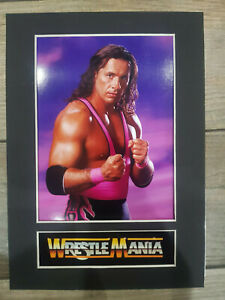 Bret-Hart-Hitman-Display-Mounted-Photograph-Wrestler-A4-Retro-Memorabilia