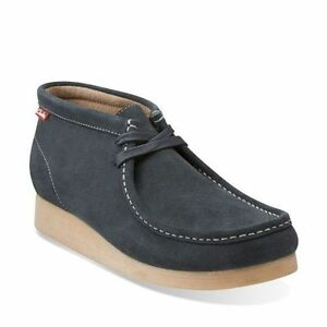 Clarks STINSON HI Men's Wallabee Style Grey Suede Ankle Boot 26104372