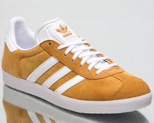 free shipping a4224 e5c62 Image is loading adidas-Originals-Gazelle-Men-New-Mesa-White-Brown-