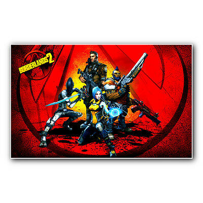 BORDERLANDS 2 HEROES -- 23 inch wide gaming poster print or canvas from xbox