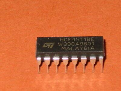 10x  CD4511BE RCA 7 segment decoder /& latch 16 pin DIP 4511B 4511