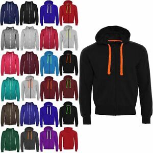 Mens Long Sleeve Full Zip Up Fleece Knit Sweatshirt Cuff Hoodie Bottom Tracksuit