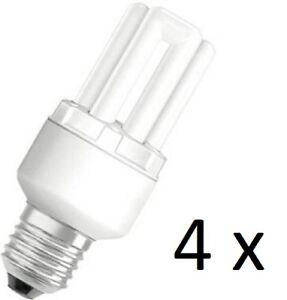 Détails sur 4 x Osram Dulux Star Superstar 8W/825 220-240V E27 Stick Lamp Light Bulb