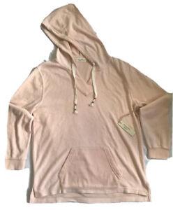 OceanDrive Peach Hoodie Sweat Shirt Size Large