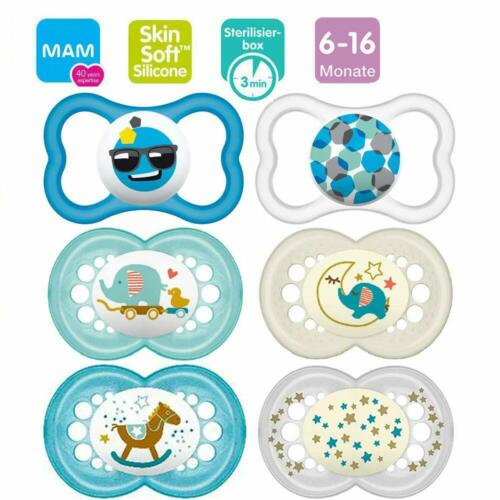2 boîtes MAM Sucette Day /& Night 6-16 Mo Mix 6er Set incl